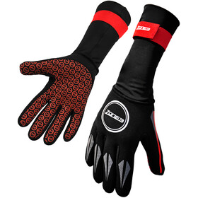 Zone3 Neoprene Swim Gloves black/red